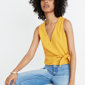 Madewell Texture & Thread Wrap-Tie Tank Top